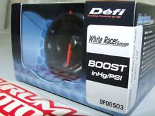 DEFI WHITE RACER ELECTRONIC TURBO BOOST PRESSURE GAUGE