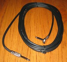 """RIGHT ANGLE 20' METAL BASS GUITAR CABLE 1/4"""" CORD INSTRUMENT KEYBOARD PA PEDAL +"""