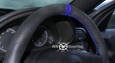 Para Mercedes W203 2000-07 Cubierta del Volante Cuero Perforado Correa Azul + R
