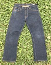 Nudie Jeans Co Tilted Tor mens 34x32 denim blue jeans dark distressed wash A64