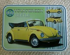 VW Authorised Beetle Convertable Keepsake Tin Workshop Tobacco Mints Trinket etc