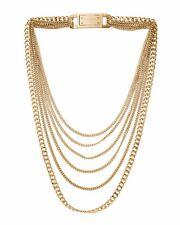 Michael Kors MKJ2920 Glam Rock Multi Strand Golden Brass Necklace BNWT $195