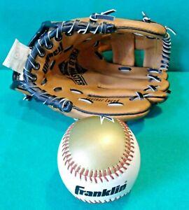 Genuine Franklin American Baseball Glove Mitt & Ball Boys Size 9 1/2 RH Thrower