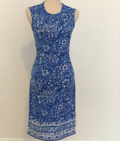 Lilly Pulitzer Madeira Dress Blue & White 12345 Size Extra Small Give 'em Shell