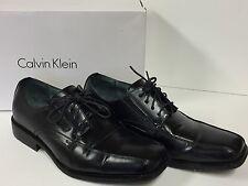 CALVIN KLEIN Men's Sz 9.5 D Jamel Bike Toe Black Dress Oxford F9014