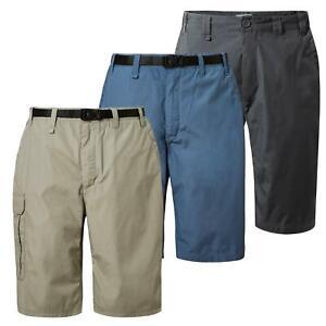 Craghoppers Mens Kiwi Long Shorts Multi Zip Pockets Golf Outdoor Walking Casual
