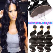 Body Wave 9A Malaysian Virgin Human Hair 3 Bundles With Frontal Lace Closure US