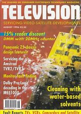Television (servicing, video, satellite, developments) Magazine August 1996