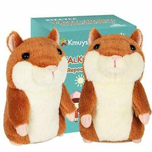 KMUYSL Bigger Talking Hamster -Repeats What You Say 1 2 3 Years  2 Pack Included
