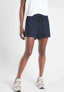 """Athleta Cabo Linen 4"""" Short Navy NWT $59 8"""
