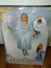 Womens Disney Cinderella Fairy Godmother Deluxe Adult Costume SZ M 8-10 NEW!