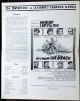 Up from the Beach WWII Normany D-Day 1965 Original Pressbook Cliff Robertson