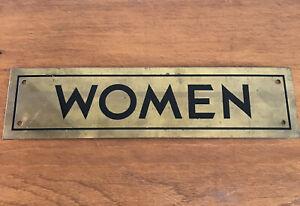 Vintage - Solid Brass - WOMEN - Door Sign Plaque