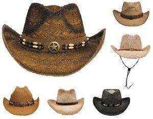 Cowboyhut Strohhut Westernhut Hut schwarz braun Square Dance neu Scippis Country