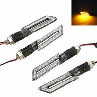 2x Motorrad LED Blinker für Motor-Roller Mofa QUAD Set Paar Karbon-Optik Carbon