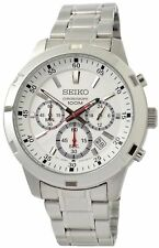 Seiko Men's Neo Sports Silver Dial Stainless Steel Watch SKS601