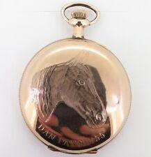 .Rare c 1910 Dan Patch Horse Racing New England Chronograph 16s O/F Pocket Watch