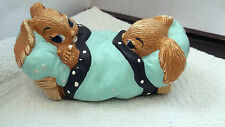 ? PENDELFIN MODEL OF TWO RABBITS TOP TO TAIL IN A BED  DINKY AND DAINTY