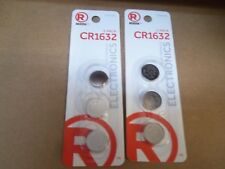 RadioShack 2302268 (lot of-2)  CR1632 (2 packs of 3)