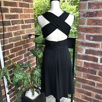 WHBM Women's Backless Black Dress Size 2