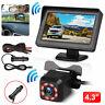 """4.3"""" TFT LCD Car Rear View Backup Monitor Parking Night Vision Camera"""