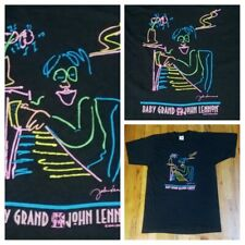 vintage John Lennon the Beatles art baby grand piano t shirt L pop classic rock