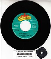 """CREEDENCE CLEARWATER REVIVAL Down On The Corner & Fortunate Son 7"""" 45 record NEW"""