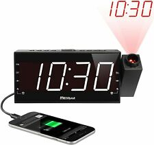Mesqool Projection Alarm Clock for Bedroom AM FM Radio & Sleep Timer BOX DENTED