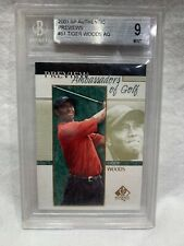 2001 Upper Deck SP Authentic Preview # 51 rookie card Tiger Woods Beckett 9