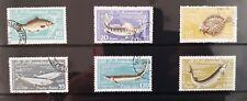 1960 ROMANIA - Fish  6 stamps  super condition