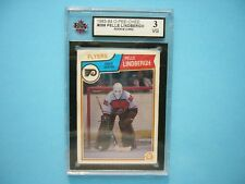 1983/84 O-PEE-CHEE NHL HOCKEY CARD #268 PELLE LINDBERGH ROOKIE KSA 3 VG NICE OPC