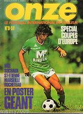 ONZE=N°9 1976=KEEGAN=HIBERNIAN=ESPANOL=C.S.K.A SOFIA=SOUTHAMPTON=SUPERCOPPA