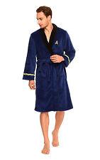 Star Trek into Darkness Adult Spock Fleece Costume Blue Bath Bathrobe Robe