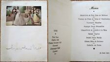 Menu: French 1937 Wedding Scene & Wine List 3- Chablis '26/Chateau Houissant '12