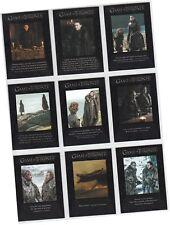 """GAME OF THRONES SAISON 7 (Seven) - 9 CARD """" Quotable Got """" poursuite Ensemble"""