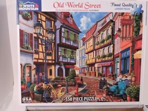 White Mountain Old World Street 550 Piece Jigsaw Puzzle 18 x 24 Art World