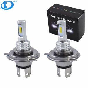 H4 HB2 9003  LED Headlight Bulbs Kit High Low Beam Bright 35W 4000LM 8000K Blue