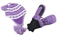 SnowStoppers® Kids Sherpa Hats and Mittens Sets