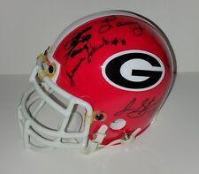 Larry Munson David Pollack David Greene Georgia Bulldogs Autographed Mini Helmet