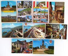 9 x RÜDESHEIM a. Rhein Hessen color Postkarten Lot AK ungelaufen ab/nach ~1970