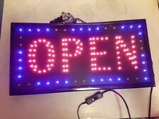 Open High Visible Led Neon Light Business Motion Sign Chain Switch #D43