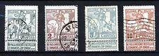 Belgique 1910 bruxelles exposition shaded fond ensemble sg 109 à sg 112 vfu