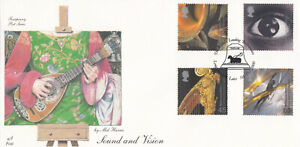 (59613) GB Fourpenny FDC Sound & Vision Bellfounders Loughborough 2000