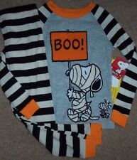 NWT Peanuts MUMMY SNOOPY WOODSTOCK Pajama Set 100% COTTON 3/3T Boys HALLOWEEN