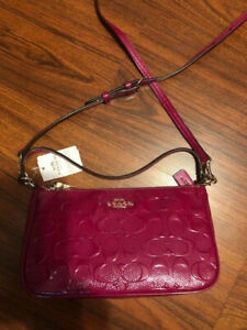 Coach Small Crossbody Fushia