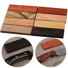 2pcs DIY Craft Nature Red Wood Handle Making Material Wooden Knife Scales Blanks