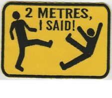 KEEP DISTANCE VLCRO COVID 2 METRES PATCH I SAID FREE SHIPPING