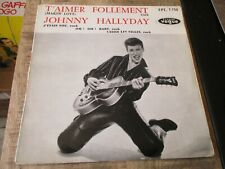 Johnny Hallyday-45T-EPL.7.750-T aimer follement+3-Label Chapell-Eo-Languette ok