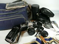 Old Vintage OLYMPUS OM 10  SLR 35mm Film Camera Set
