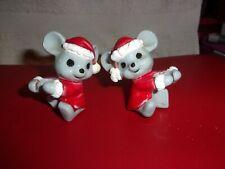 Vintage Christmas Mice Candle Climbers